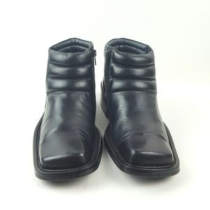BORGESI|Black Leather Ankle Boots Size 41 (8-8.5)